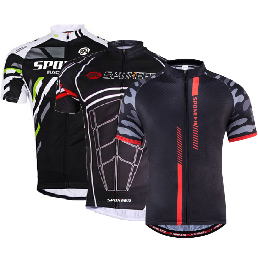 f7aa5065dc5 Details about Spin Bike Shirts Men Biking Clothing Jersey Short Sleeve  Black MTB Sportswear