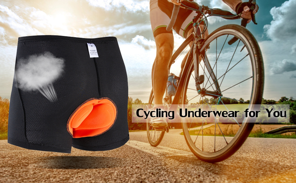 Men Cycling Shorts Bicycle Underwear Breathable Undershorts 3D Padded Black AU