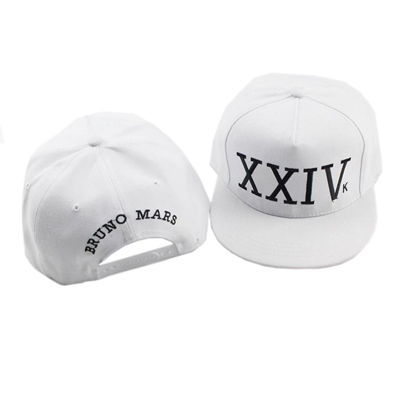 HENBEERS Twill Sandwich Snapback Peaked Bill Cap Bruno New Song XXIV Logo 24K Magic Hat