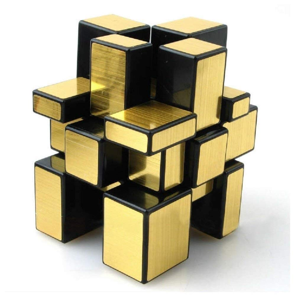 Golden Mirror Cube 3x3x3 Speed Cube Gold Mirror Blocks Puzzle Abs Ultra Smooth Ebay