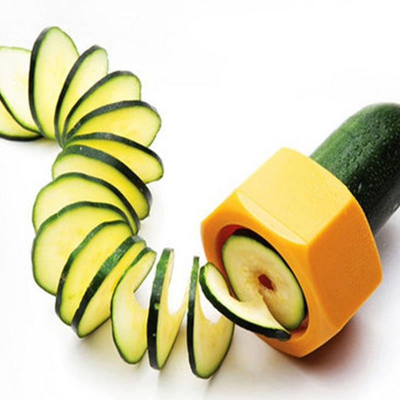 Creative Kitchen Gadget Spiral Cucumber Slicer Nut Shape Vegetable Peeler