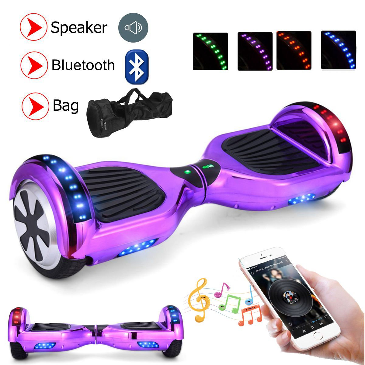6 5 8 10 bluetooth skateboard elektro scooter self. Black Bedroom Furniture Sets. Home Design Ideas