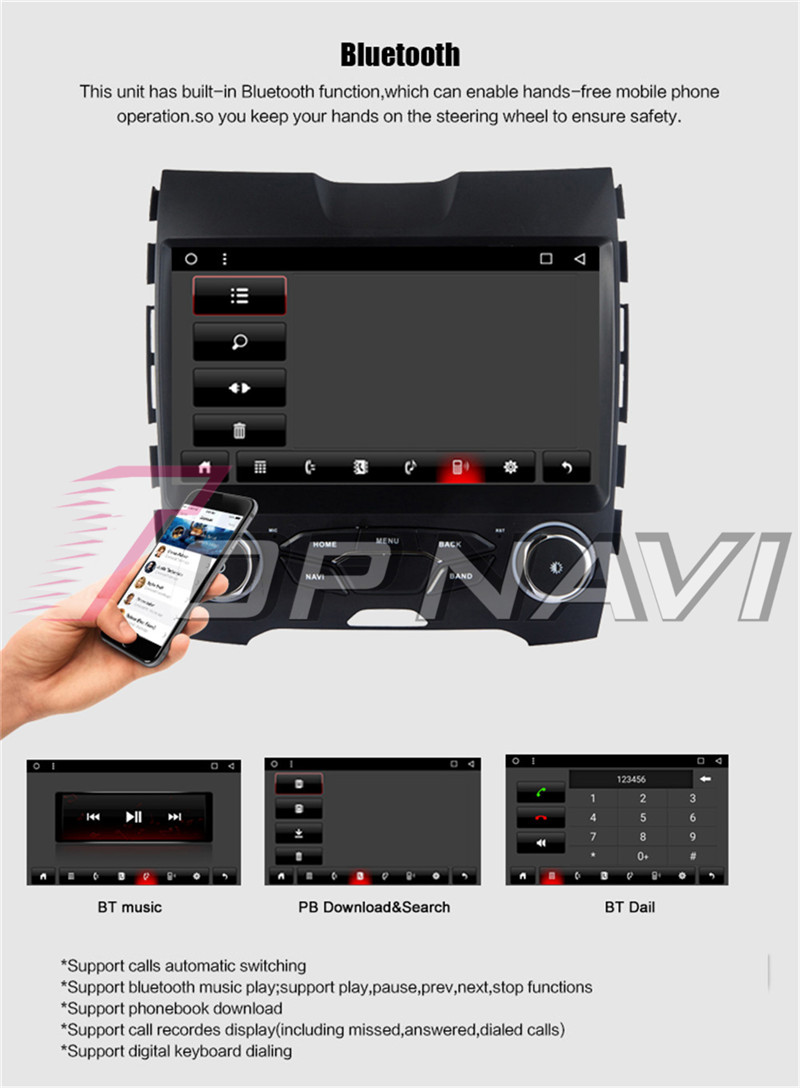 android radio tape recorder For Ford EDGE 2015_Copy3