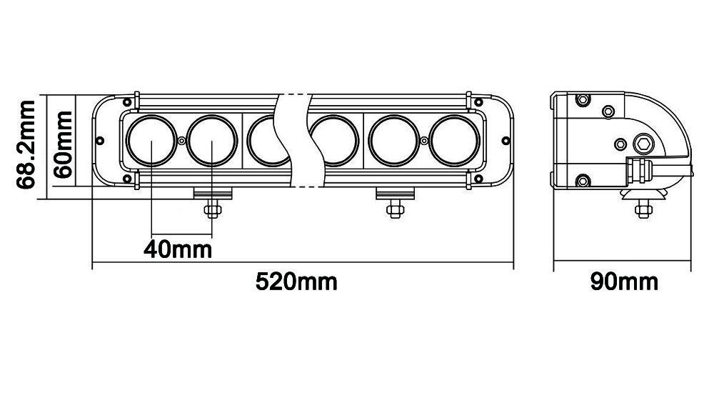 1pc 20 u0026 39  u0026 39  120w led work light bar spot flood combo beam