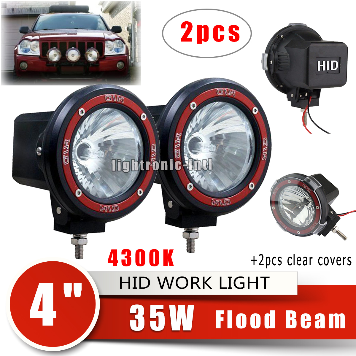 Driving Fog Lights Lens HID Xenon Car Trucks SUV Spot Work Light Lens Cover