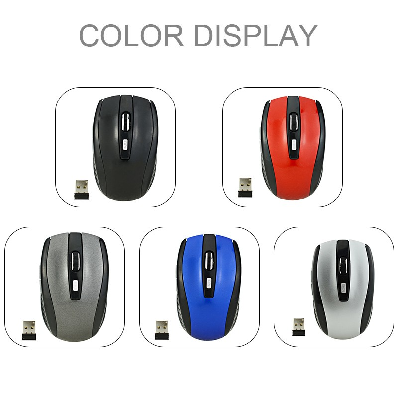 2.4GHz Wireless Cordless Mouse Mice Optical Scroll For PC Laptop Computer New