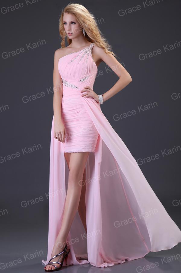 Vestido Dama De Honor Fiesta Formal Noche Graduación Rosa Talla 6~20 ...