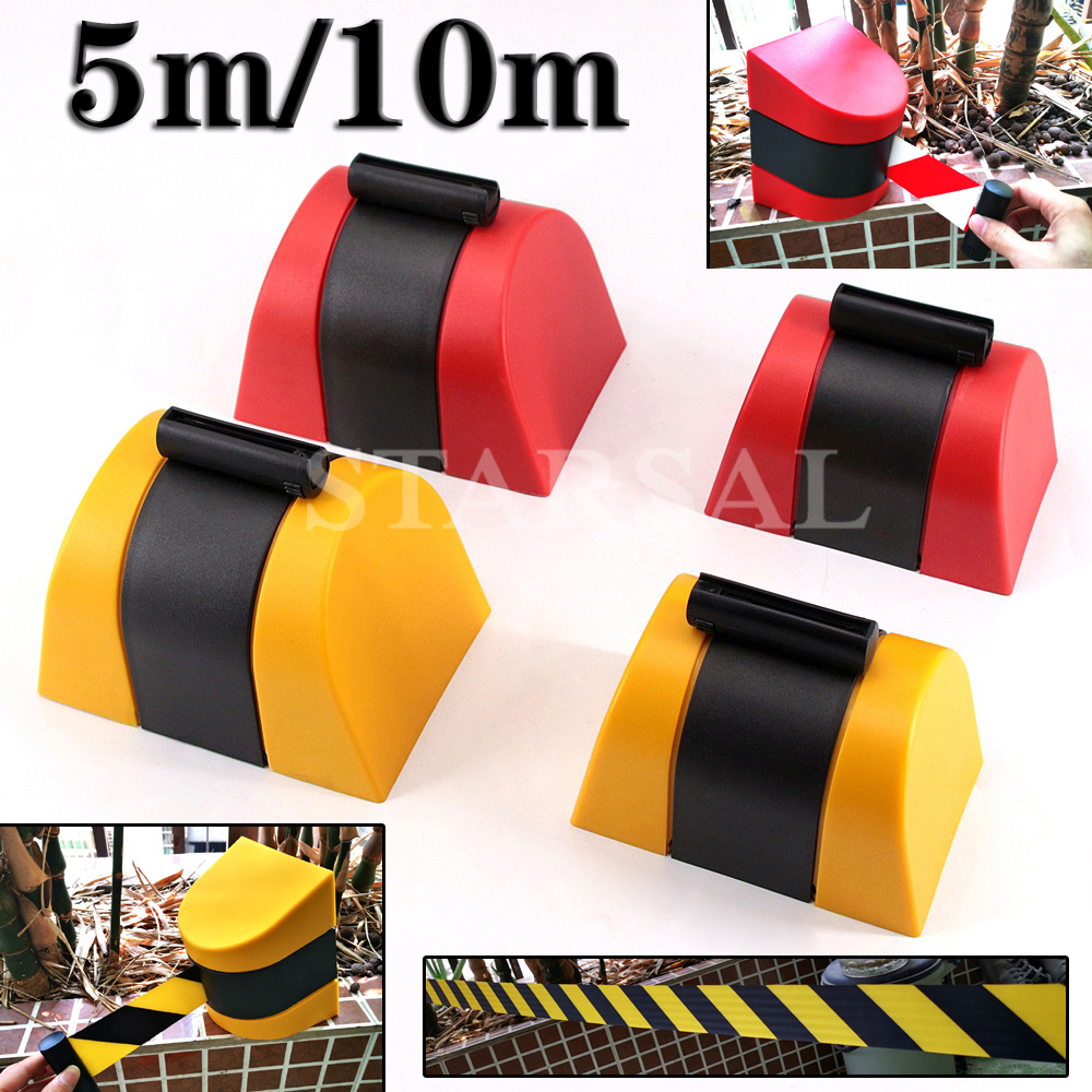 Zeca 8 Metre Reftractable Safety Belt Barrier Tape in Black /& Yellow 9801//BY
