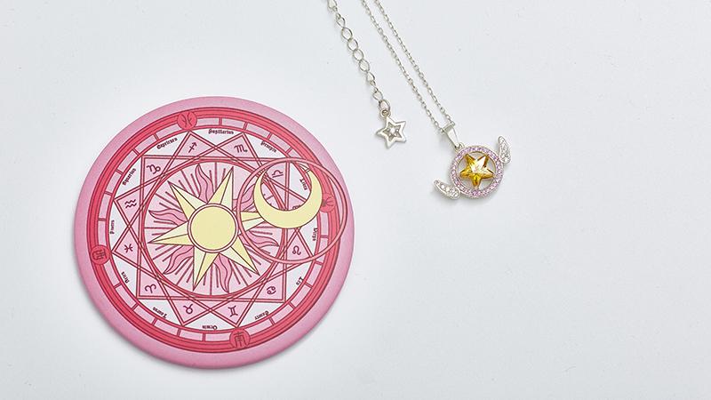 Card Captor Sakura Judge ユエ Silver Necklace Pendant Anime Cosplay Xmas Gift