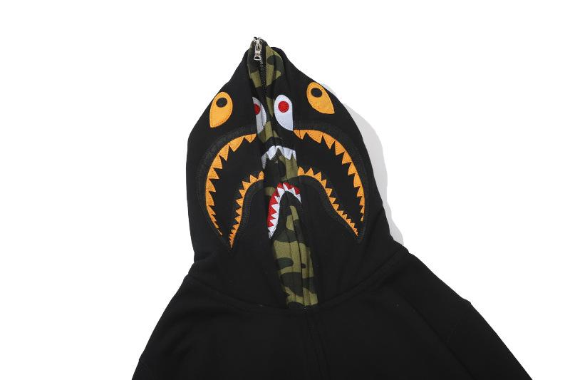 Lovers Bathing Ape Jaw Jacket Camo Full Bape Shark Zipper Hoodie Sweats Coat