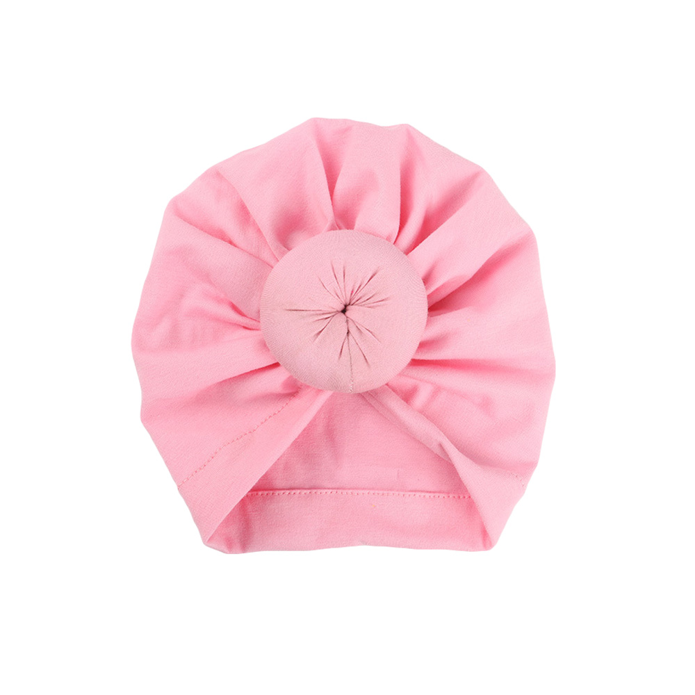 Baby Infant Toddler Girls Knot Elastic Turban Solid Color Hat Hair Head Warp Cap