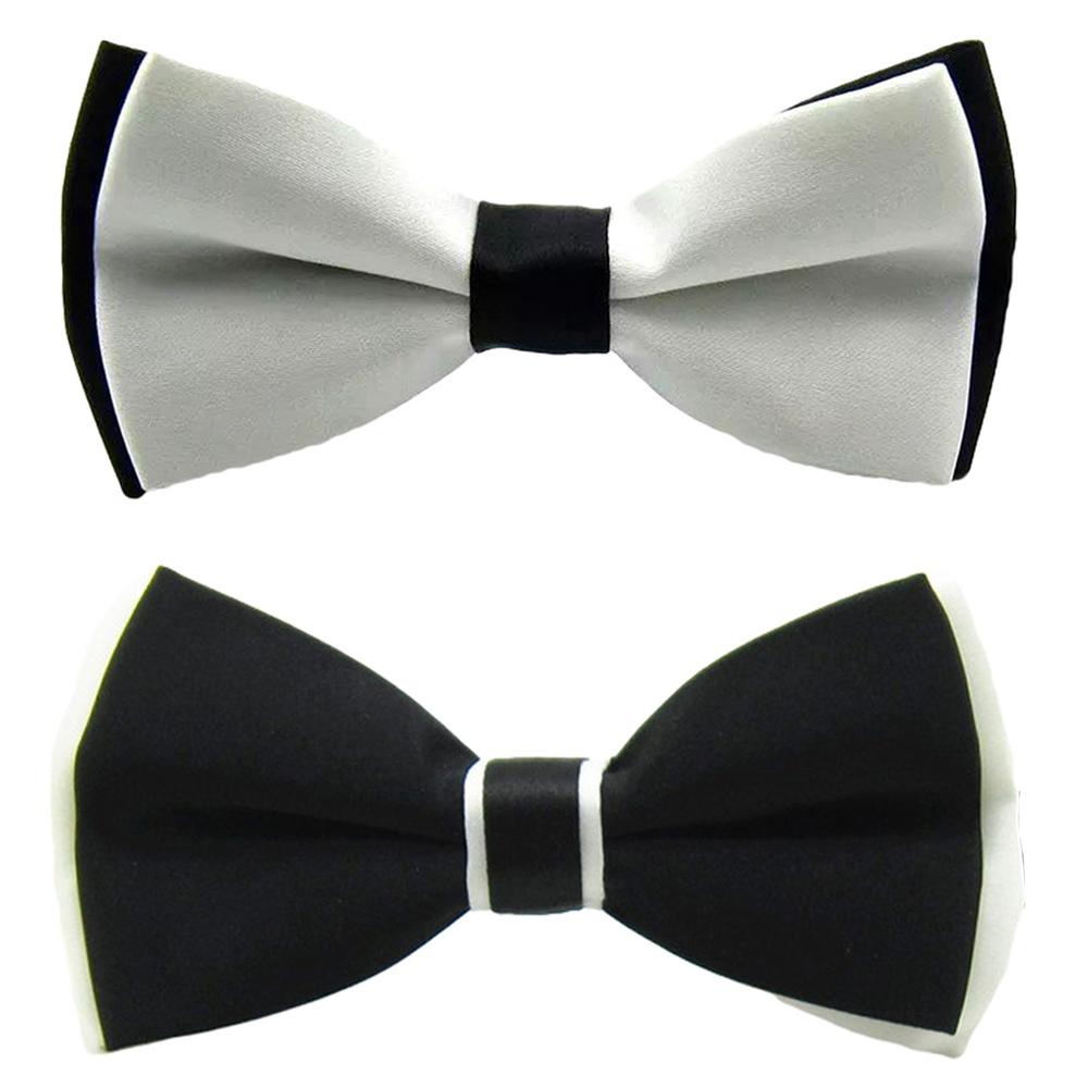 MEN Unisex BOWTIE TUXEDO BOW TIE Stripes PARTY Wedding BLACK GREY BLUE WHITE