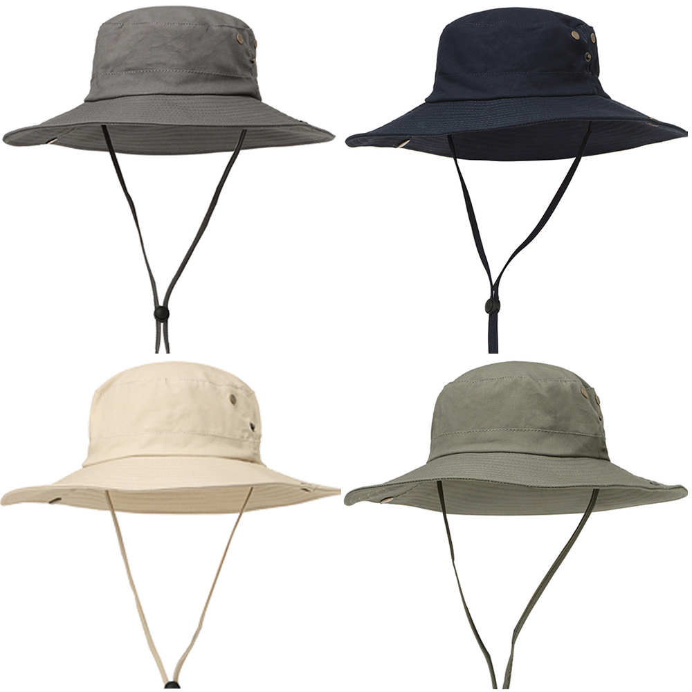 f16359525b53b Details about Men's Outdoor Jungle Hats Fishing Fisherman Cap Casual Wide  Brim Bucket Hat