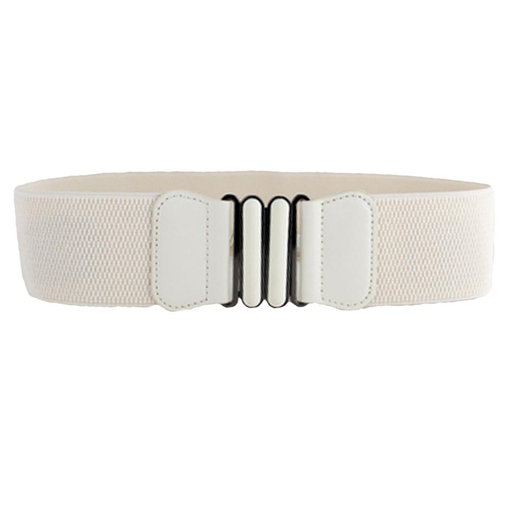 Women Ladies Stylish Long Clasp Buckle Stretchy Belt Elastic Corset Waist Band