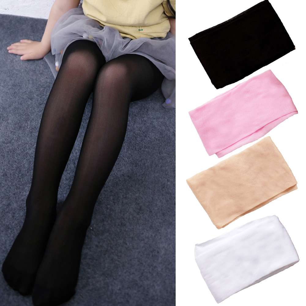 Kids Girls Child Solid Stockings Tights Step Foot Pantyhose Ballet Dance Pants