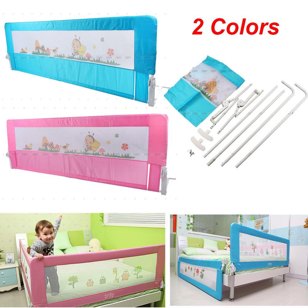 DIY Child Toddler Bed Rail Safety Protection Guard Folding Bedrail