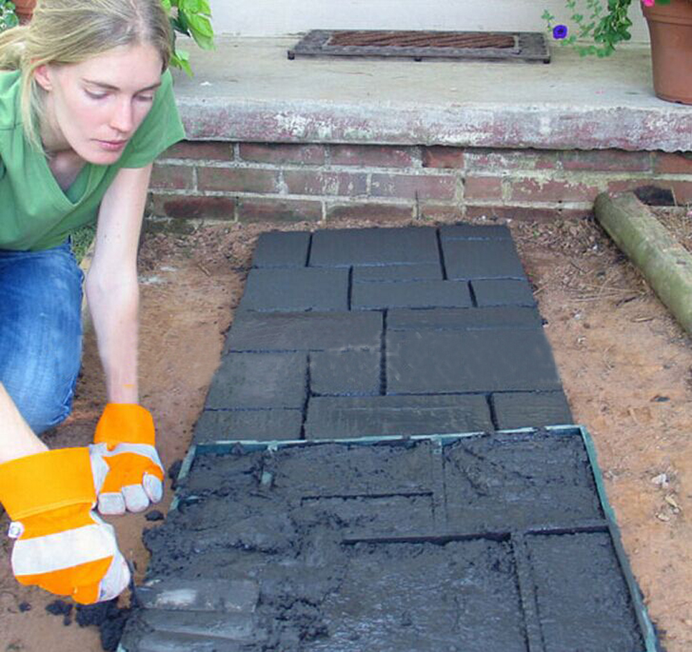 DIY Driveway Walk Maker Paving Patio Concrete Slabs Brick Path Maker Mould