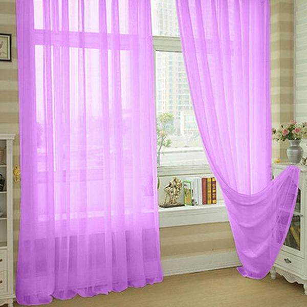 Floral Rideau fenêtre fil porte voilage moustiquaire maison décor ...