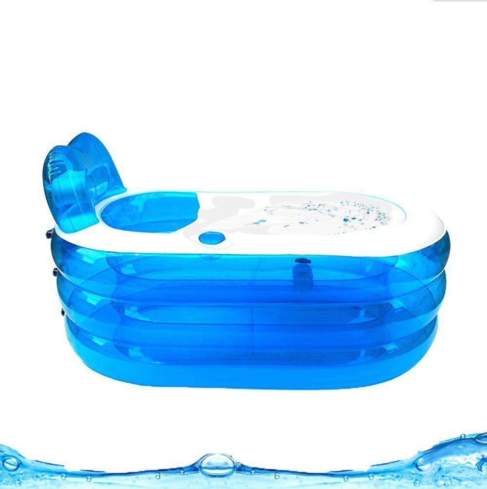 Adult Child Portable Warm Bathtub Inflatable Bath Tub Electric Air ...