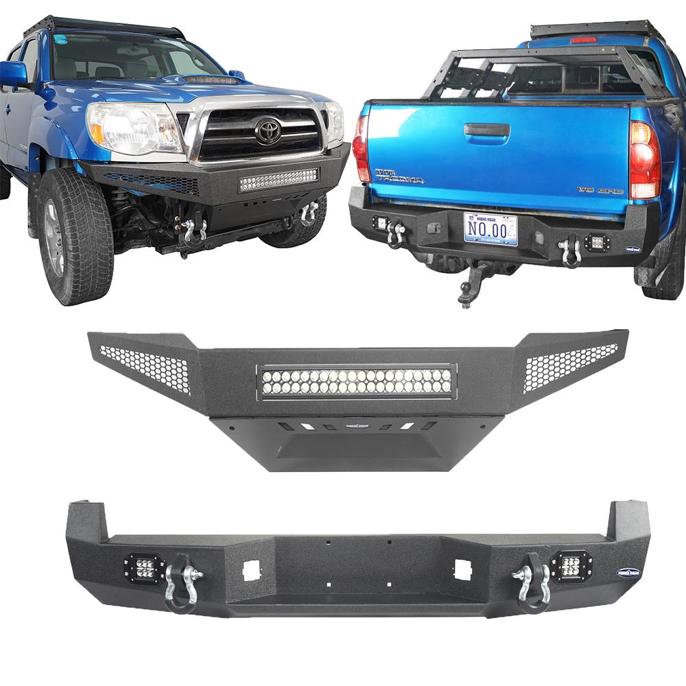 u-Box Toyota Tacoma 05-15 Discovery Rear Bumper w//2 /×18W LED Floodlights