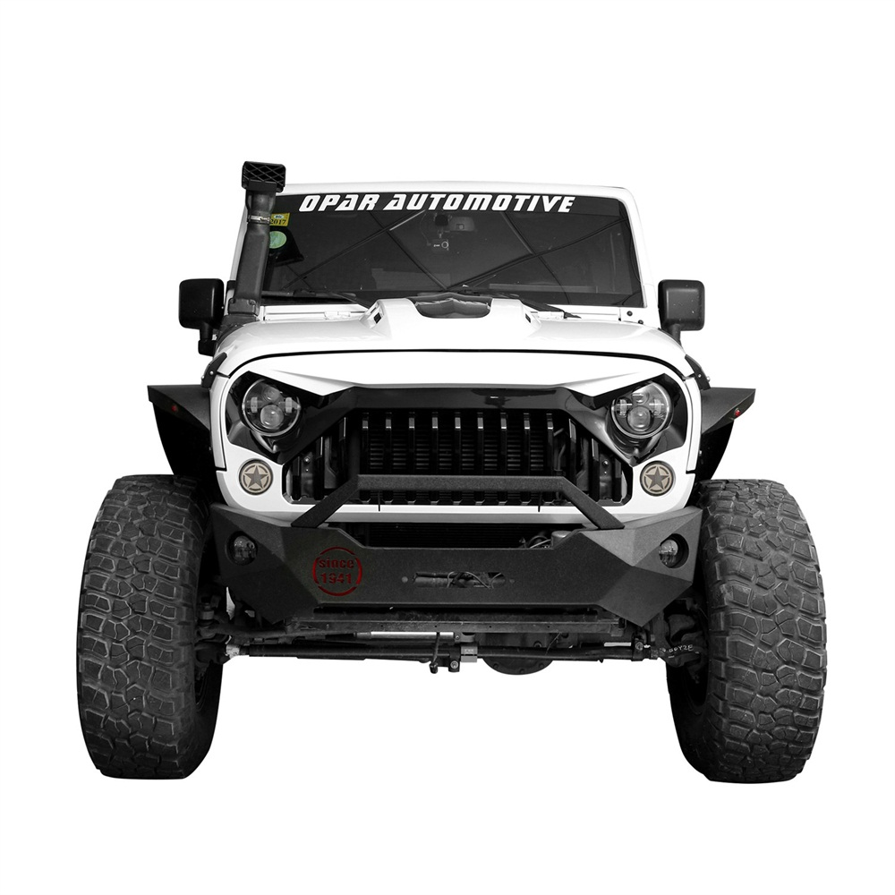 abs front white painting grille grid grill for jeep wrangler jk