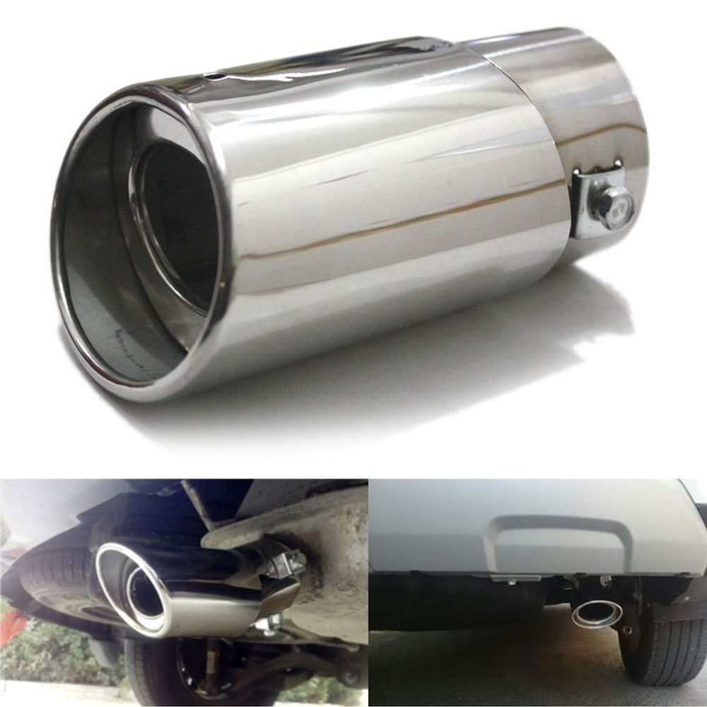 63mm 304 Stainless Steel Car Exhaust Pipe Inlet Tips Muffler Pipe Tail Throat