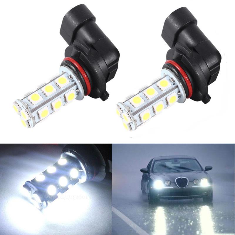 2x White 18 SMD LED HB4 9006 12v Headlight Fog Car Light Bulbs