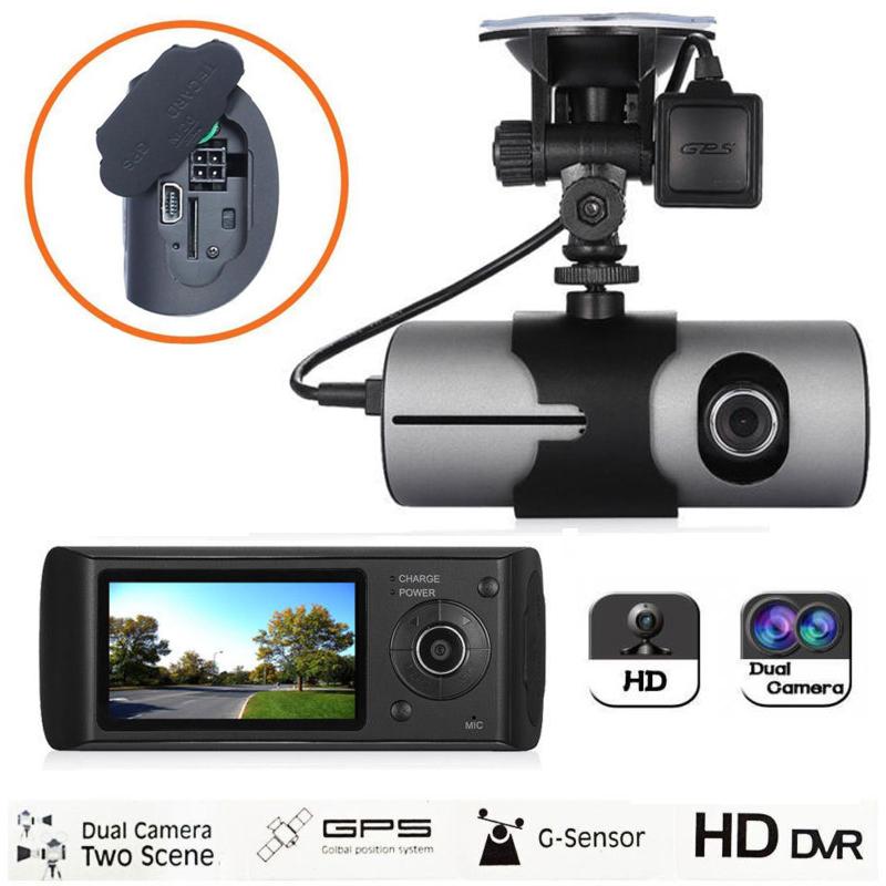 "2.7/"" Dual Lens Camera Full HD Car DVR Vehicle Video Dash Cam Recorder G-Sensor F"