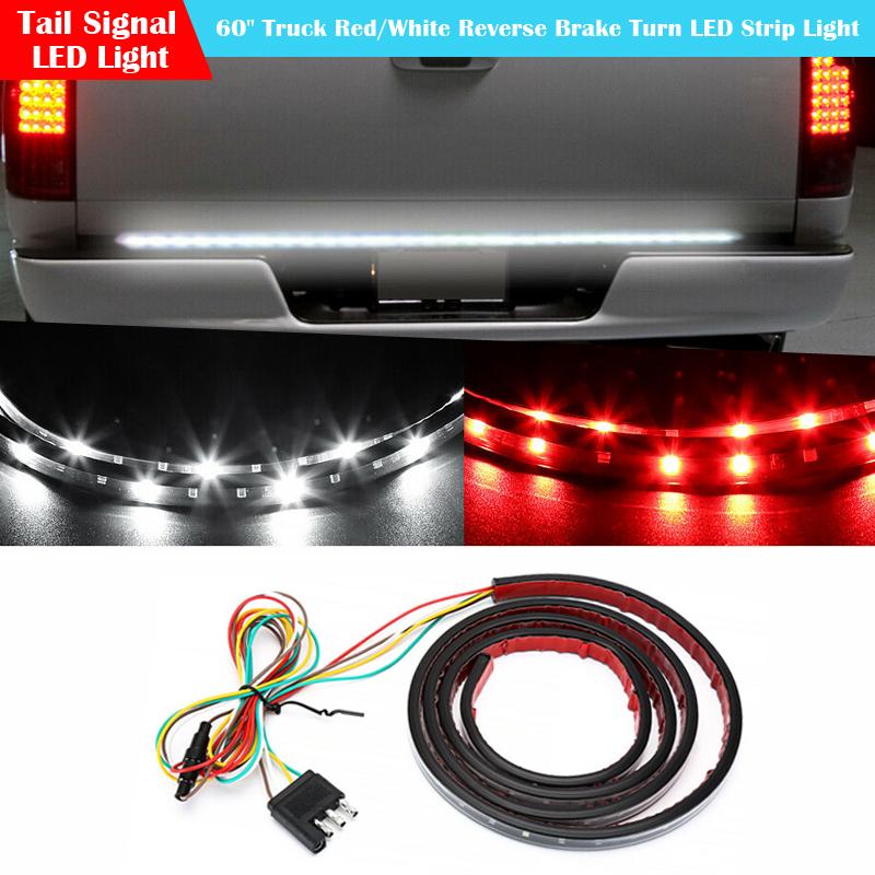 "Waterproof 60/"" Tailgate LED Strip Bar Truck Reverse Brake Turn Signal Tail Light"