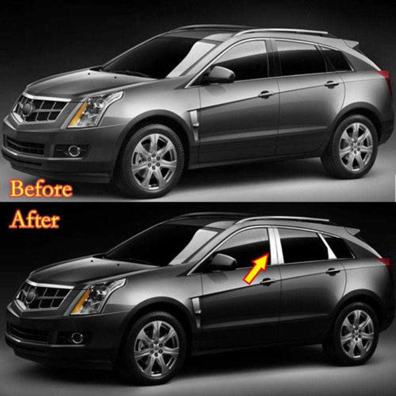 2010-2016 Cadillac SRX Chrome 6Pc Pillar Post Stainless