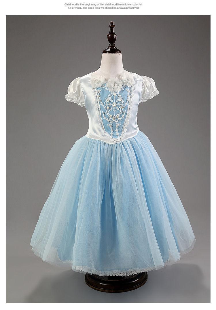 Kids Girls Dresses dress costume Princess christmas gift dress+Cape ...