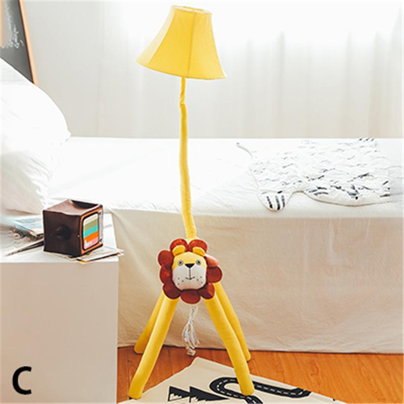 Details about Creative Kids Fabric Cute Animal Floor Lamp Cartoon  Children\'s Bedroom Lighting