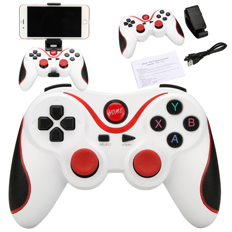 Details about Wireless Bluetooth USB Game Controller Gamepad Joystick for  Android TV Box Table