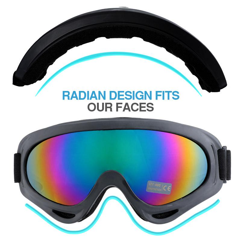 55d0322d683 2x Winter Snow Sport Goggles Kids Ski Snowboard Snowmobile Sun Glasses  Eyewear
