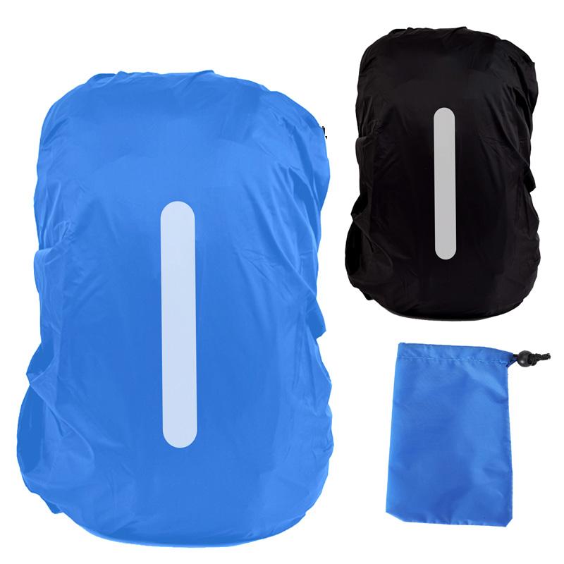 Waterproof Camping Rucksack Backpack Rain Cover Reflective Bag Raincoat CA