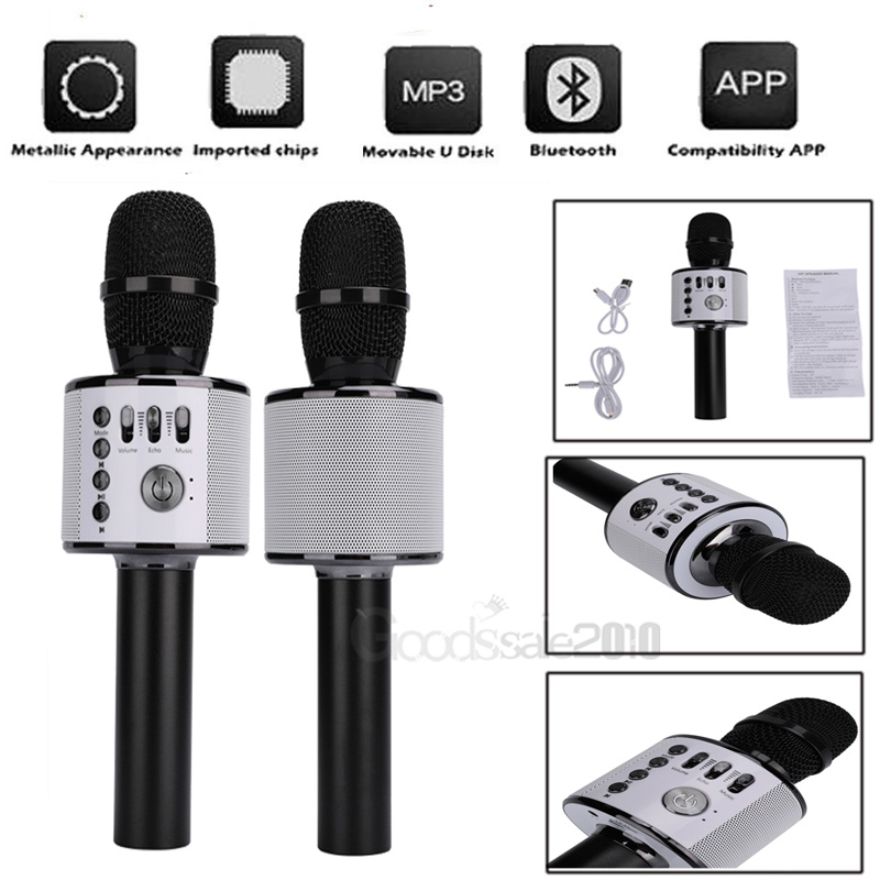 Details about Q37 Wireless Karaoke Microphone USB KTV Player Bluetooth Mic  HIFI Speaker Home