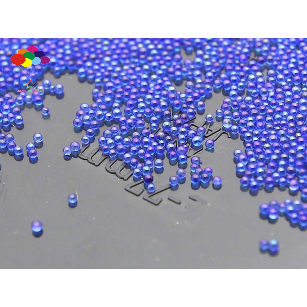 New 100000 pcs Glass Dark purple AB Micro Beads small No Hole 0.6-0.8mm Nail Art