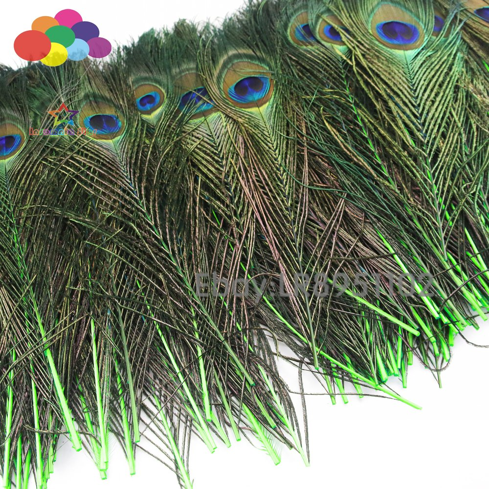 25 Pcs Natural Peacock Feathers 30-35