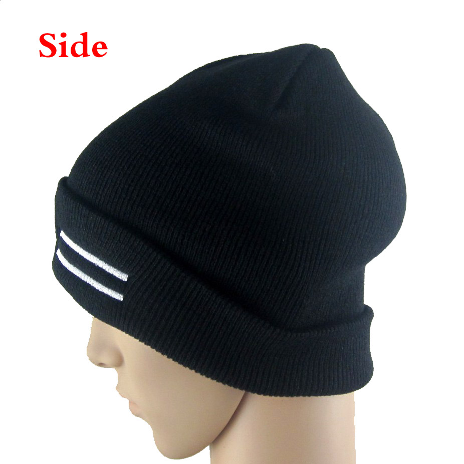 3e7f1bcab75 Black hat For real madrid soccer SPORT Warm Winter Knit Fashion Ski Beanie  cap M