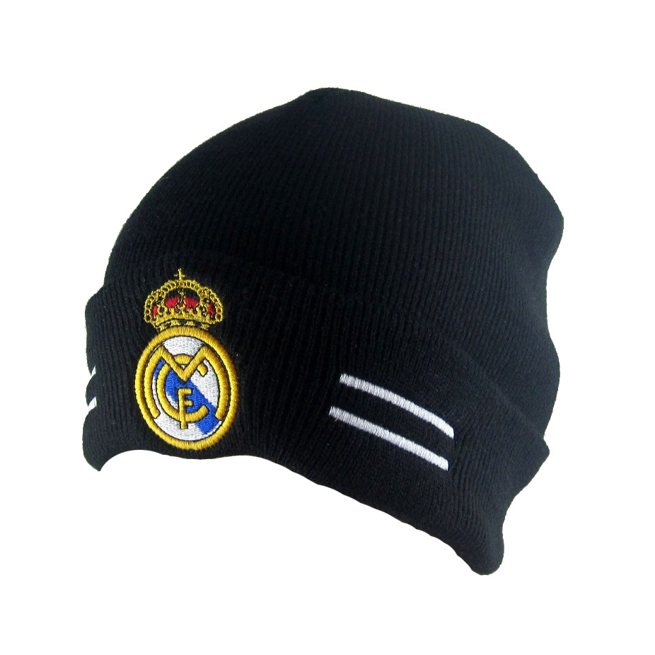 Details about Black hat For real madrid soccer SPORT Warm Winter Knit  Fashion Ski Beanie cap M 922124f6270