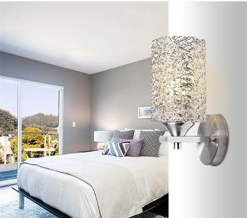 Modern Creative LED Aluminum wire Wall lamp Cafe Wall Light Home ...