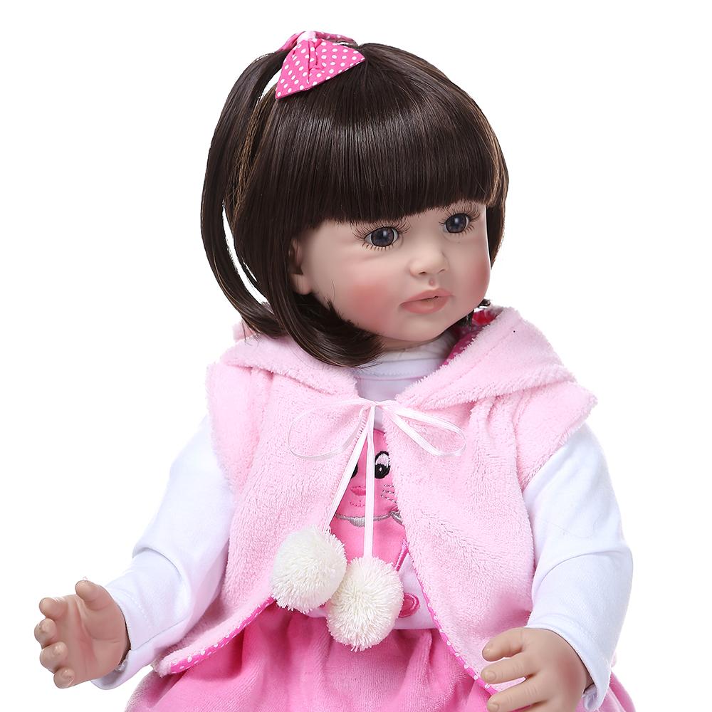 "24/"" Reborn Toddler Realistic Reborn Baby Dolls Handmade Soft Body Dolls Playmate"