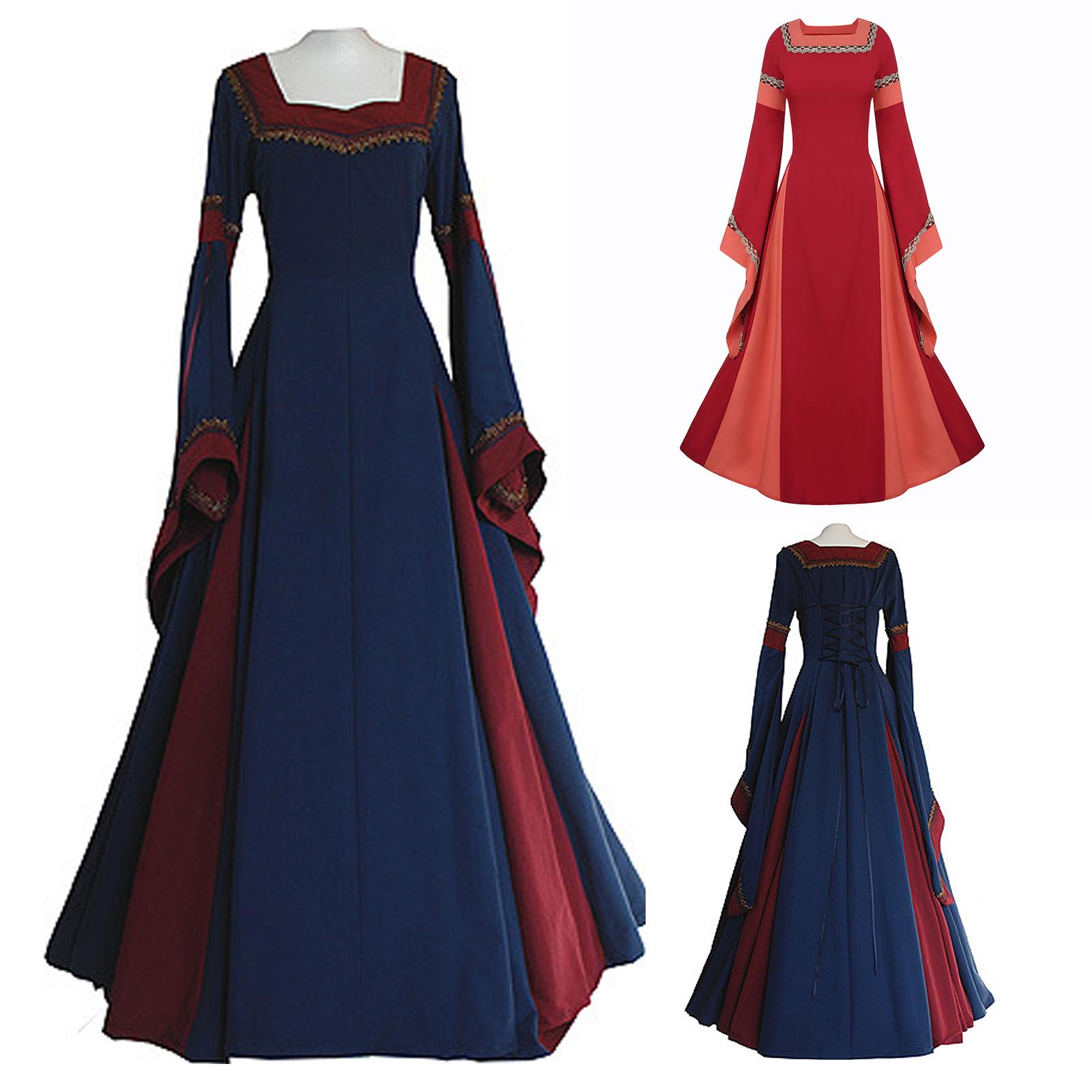 Medieval Dress Women/'s Vintage Victorian Renaissance Gothic Costume Gown Dress