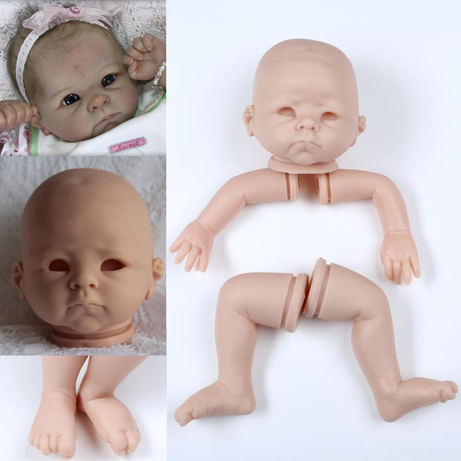 "Unpainted Reborn Kits Soft Vinyl Head /& 3//4 Limbs Mold for 20/"" Reborn Baby Doll"