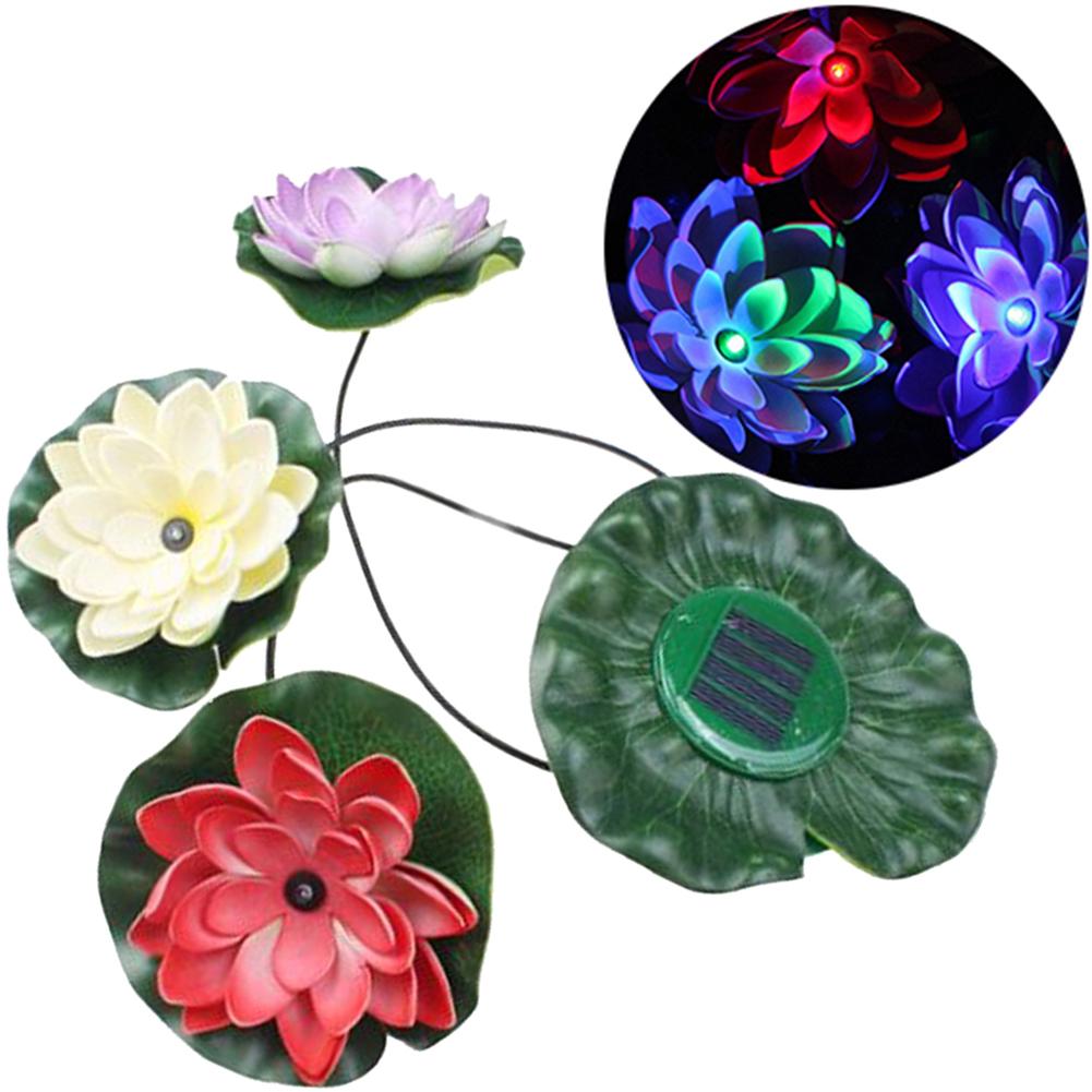 Solar licht led lotus licht blumen solarlampe schwimmen for Solar licht