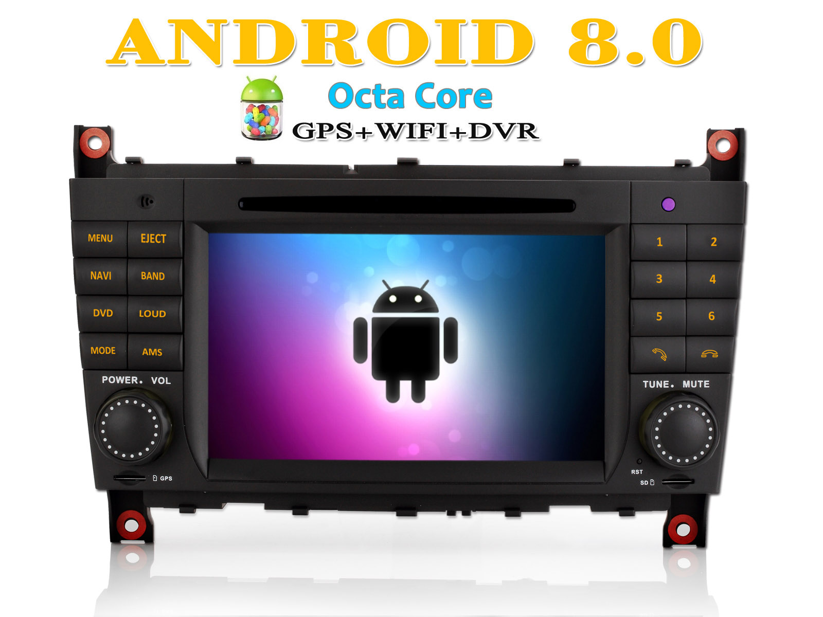 dab android 8 0 gps navi 7 autoradio f r mercedes benz c. Black Bedroom Furniture Sets. Home Design Ideas