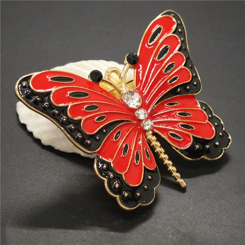 Pin By Crystal Johnson On Baldwin Hills Dam Break: New Betsey Johnson Red Enamel Cute Butterfly Crystal Charm