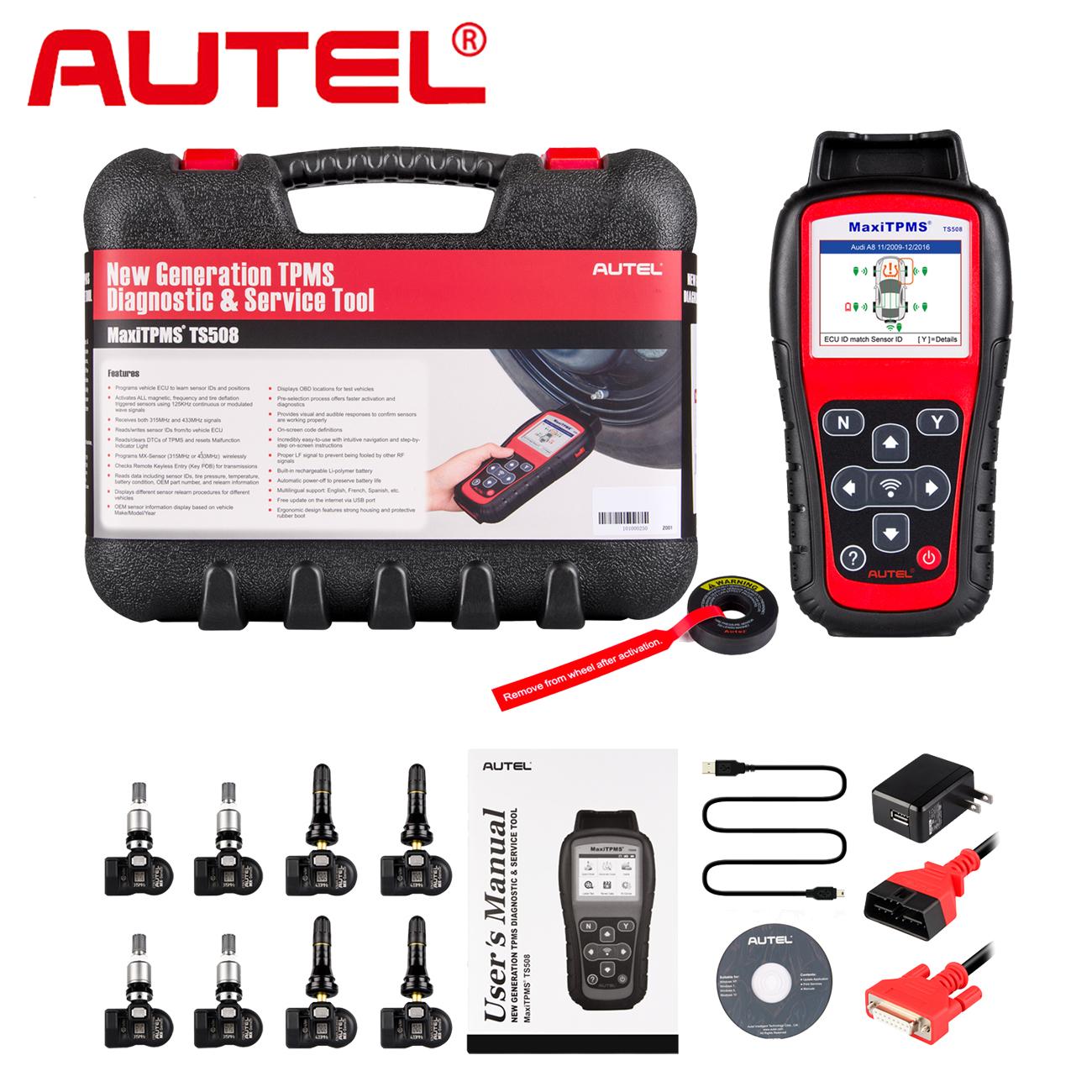 Details about Autel TS508K Premium TPMS Service Tool Activate Tire Pressure  Sensor Program ECU