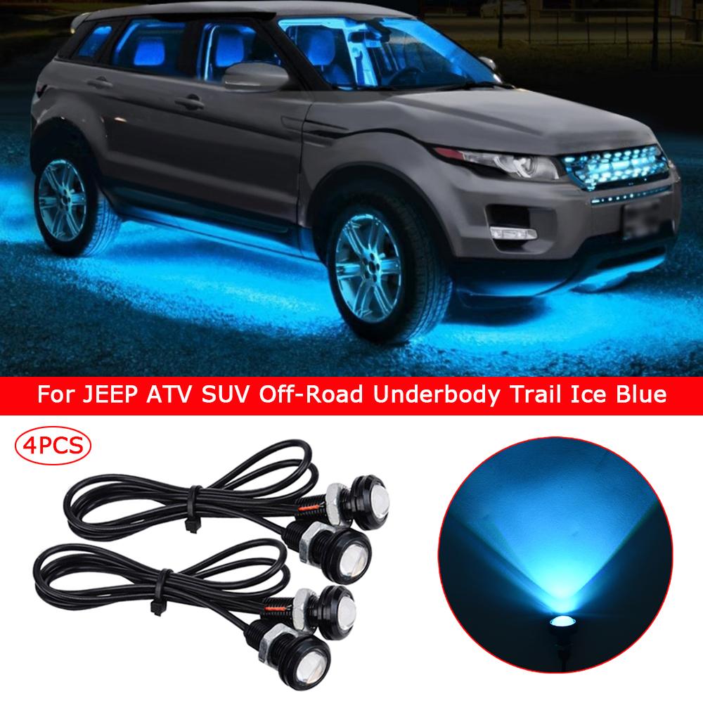 4x Waterproof LED Rock Light ATV SUV Off-Road Truck Underbody Trail Green