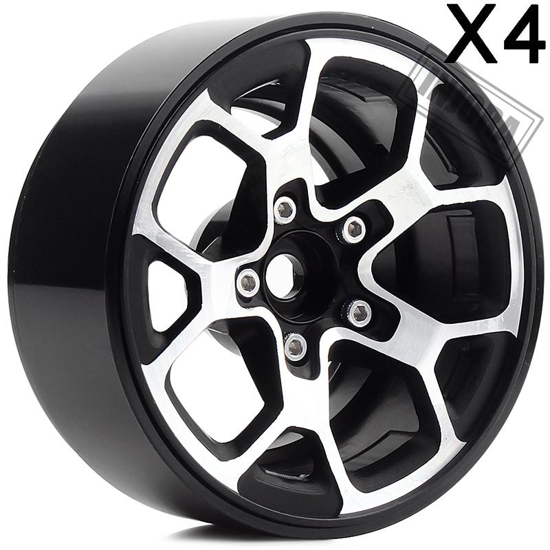 4 pcs Metall 1,9 /'/'Beadlock Felgen Für 1//10 Axial SCX10 II 90046 RC Upgrade